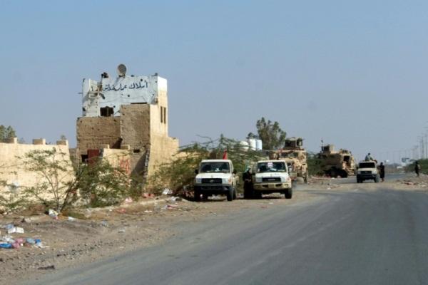 قوات الحكومة اليمنية في الضواحي الشرقية للحديدة