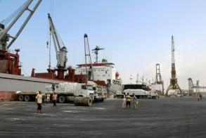 صورة من الارشيف لميناء الحديدة في 27 يناير 2018