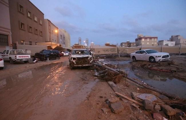 أضرار بسبب الأمطار في الكويت