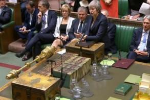 صورة من البث الرسمي لجلسة البرلمان البريطاني