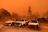 فيديو يظهر كارثة الحريق في كاليفورنيا