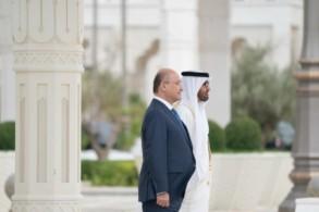ولي عهد أبوظبي مستقبلا الرئيس العراقي