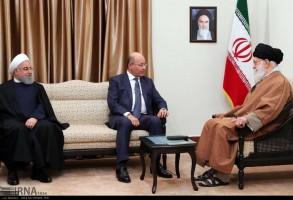 الرئيس صالح مجتمعا مع خامنئي بحضور الرئيس روحاني