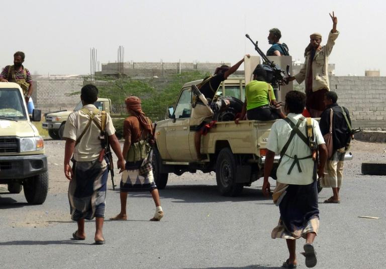 قوات موالية للحكومة اليمنية عند أطراف الحديدة الشرقية في 10 نوفمبر 2018