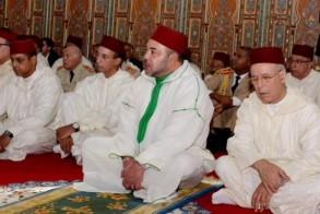 الملك محمد السادس وأحمد التوفيق وزير الأوقاف والشؤون الإسلامية - أرشيف