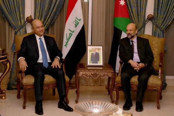 الرئيس صالح مجتمعا في عمان مع رئيس الوزراء الاردني عمر الرزاز
