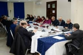 سعد الدين العثماني لدى ترؤسه اجتماع الأمانة العامة لحزب العدالة والتنمية المغربي
