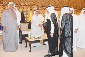 استقبالات لمدنيين ومسؤولين وسفراء