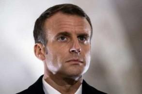 الرئيس الفرنسي إيمانويل ماكرون في بلدة دوامون في فرنسا في صورة تعود إلى السادس من نوفمبر 2018