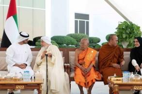 محمد بن زايد يستقبل المشاركين بملتقى تحالف الأديان لأمن المجتمعات