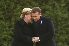 الرئيس الفرنسي والمستشارة الألمانية