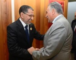 الدكتور سعد الدين العثماني، رئيس الحكومة، مع نبيل بنعبد الله، الأمين العام لحزب التقدم والاشتراكية