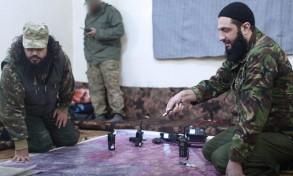 أبو محمد الجولاني زعيم جبهة النصرة (يمين) - أرشيفية