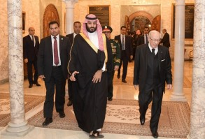 السبسي مودعا ولي العهد السعودي في ختام زيارته مساء الثلاثاء