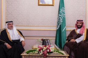 ولي العهد السعودي لدى لقائه ولي العهد البحريني (واس)