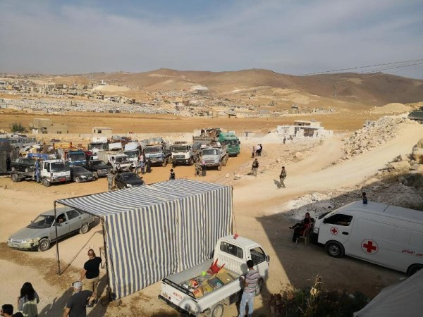 لاجئون سوريون في عرسال
