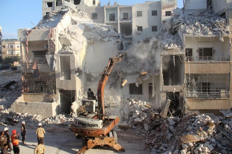 مبان مهدمة في مدينة حلب
