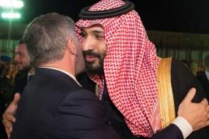 محمد بن سلمان وعبدالله الثاني خلال لقاء سابق لهما