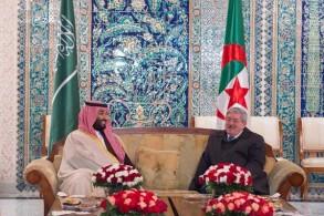 ولي العهد السعودي رفقة الوزير الأول الجزائري
