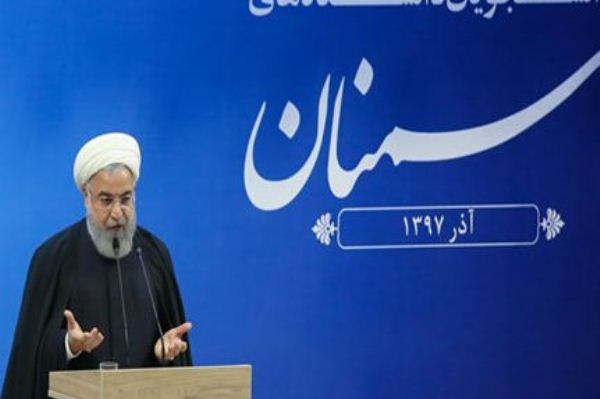 روحاني متحدثا في جامعة سمنان يوم الثلاثاء