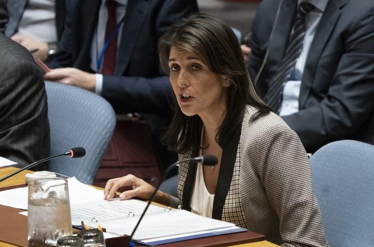 السفيرة الأميركية نيكي هايلي