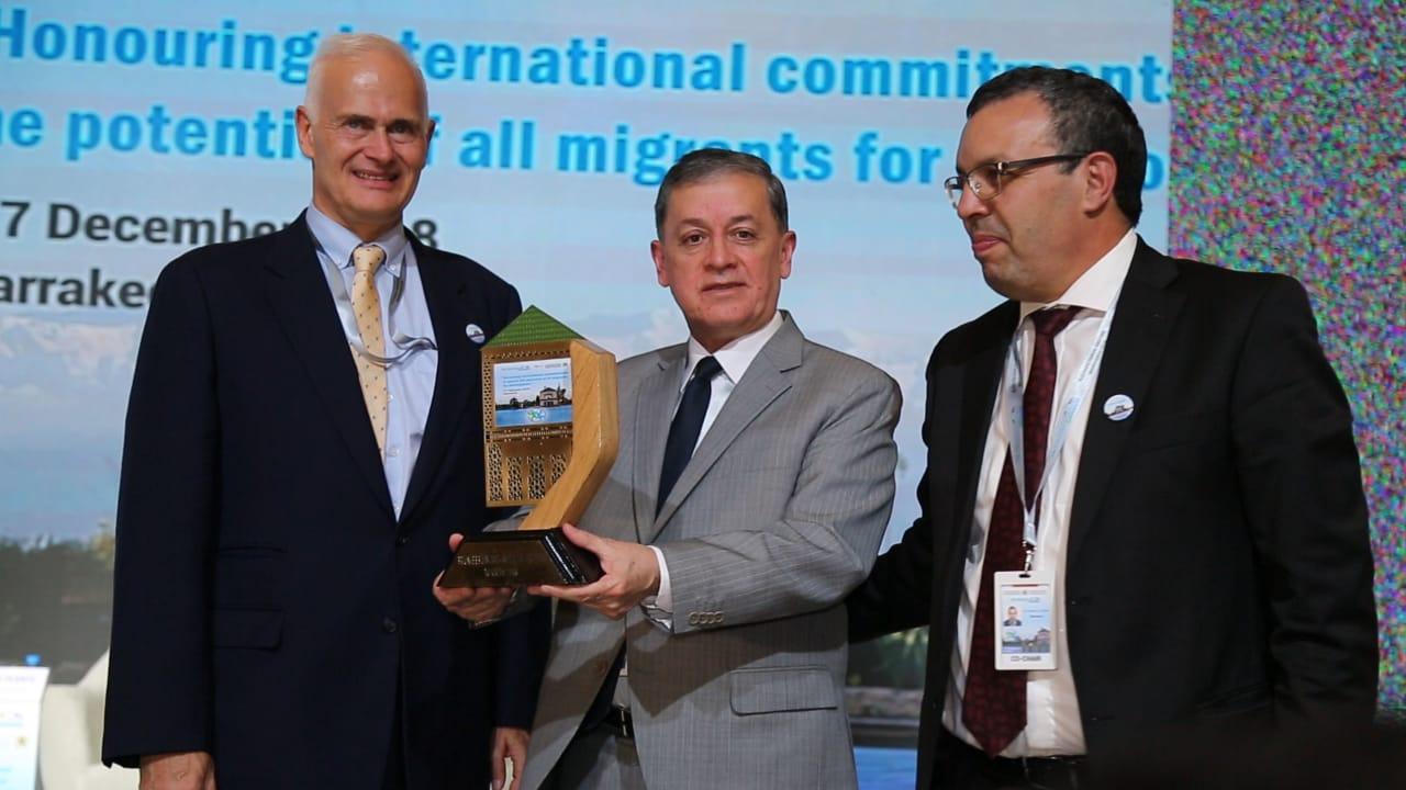 الوزير بنعتيق عقب نهاية أشغال الدورة الحادية عشرة من المنتدى العالمي للهجرة والتنمية بمراكش