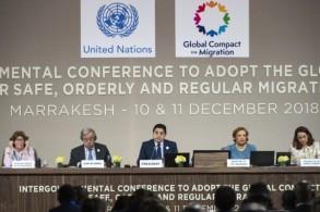 صورة من مؤتمر مراكش للهجرة
