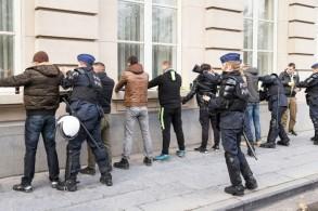 الشرطة البلجيكية توقيف عددا من متظاهري