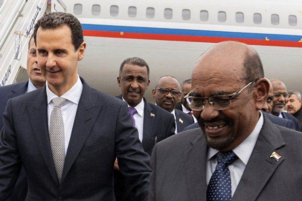 الطائرة بخطوط العلم الروسي وراء البشير والأسد