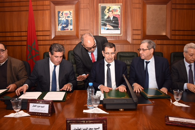 قادة التحالف الحكومي الحالي برئاسة الدكتور سعد الدين العثماني