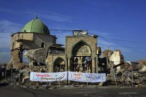 العراق يضع حجر الأساس لإعادة بناء جامع النوري التاريخي في الموصل