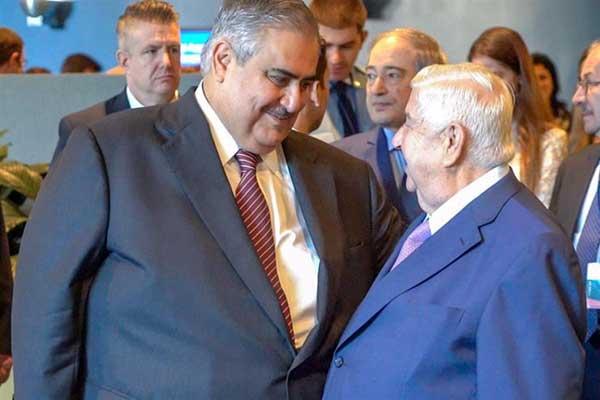لقاء وزيري الخارجية البحريني والسوري الخاطف في نيويورك
