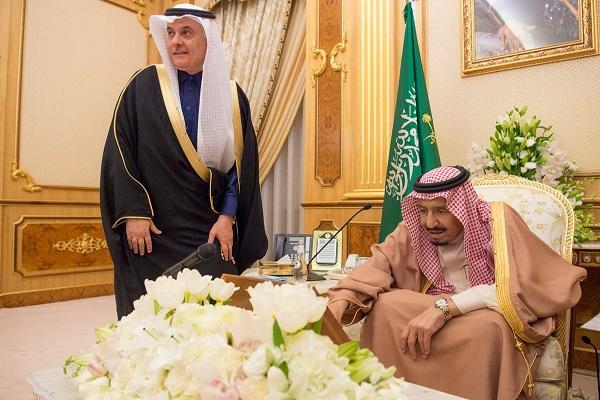 الملك سلمان بن عبد العزيز خلال تدشين برنامج التنمية
