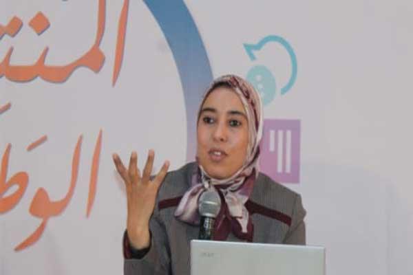 آمنة ماء العينين القيادية في حزب العدالة والتنمية المغربي