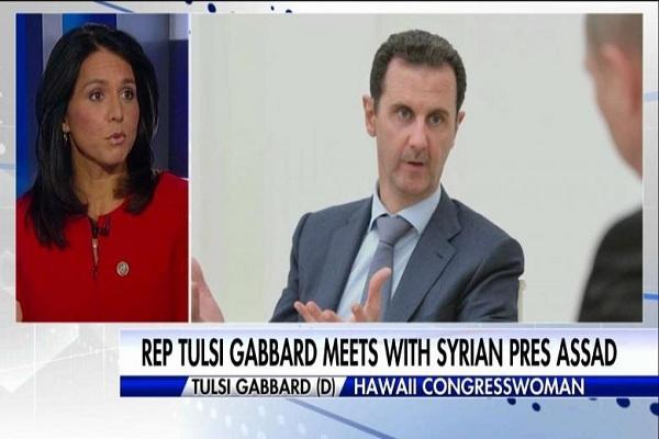 تقرير تلفزيوني حول زيارة غابارد السرية إلى دمشق