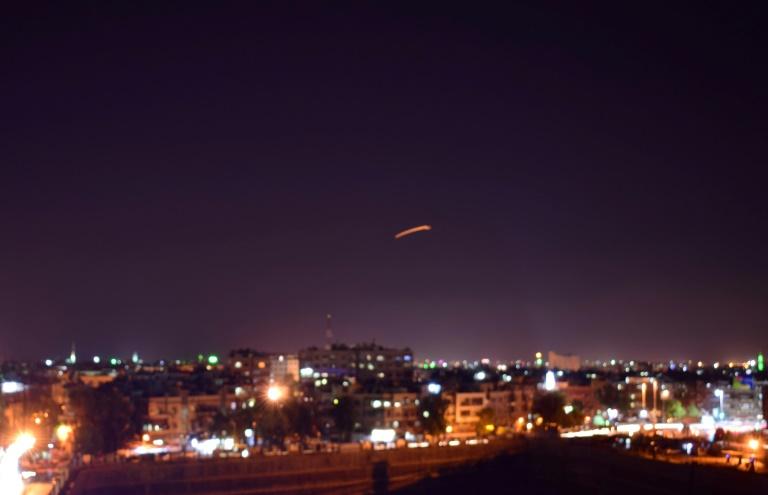 دفاعات جوية سورية تتصدى لأهداف معادية فوق دمشق 15 أيلول/سبتمبر 2018