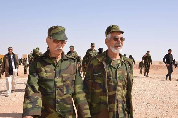 الأمين العام لبوليساريو إبراهيم غالي حضر المناورات العسكرية للجبهة الانفصالية - أرشيفية