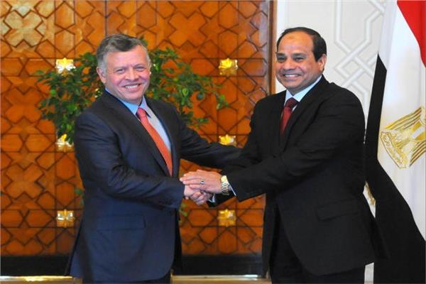 الرئيس عبدالفتاح السيسي يلتقي الملك عبدالله الثاني