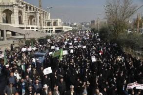 احتجاجات شعبية في إحدى المدن الإيرانية