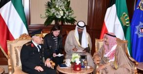 الشيخ صباح الأحمد الجابر الصباح ملتقيا رئيس الوفد التركي- نقلا عن كونا