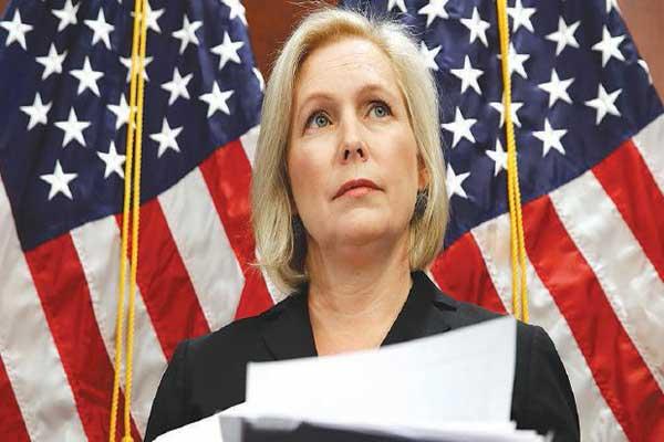 السناتور كريستين غيليبراند تتحدث في الكونغرس عن تحرشات ترمب