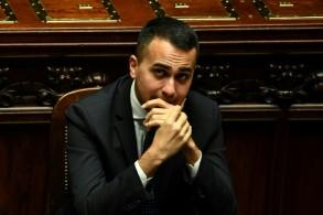 نائب رئيس الوزراء لويجي دي مايو، زعيم حركة الخمس نجوم، في البرلمان الإيطالي في 29 كانون الأول/ديسمبر 2018