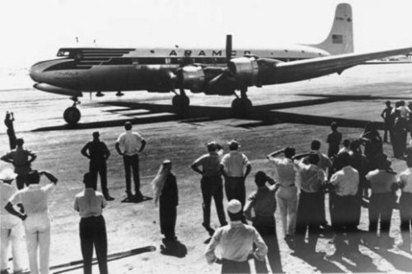 طائرة أرامكو في الظهران في عام 1950