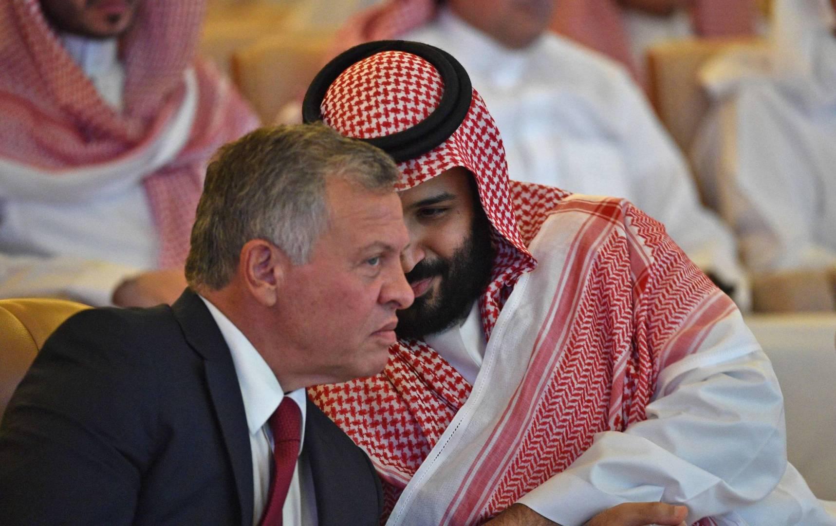 لقاء سابق بين الأمير محمد بن سلمان وعاهل الأردن