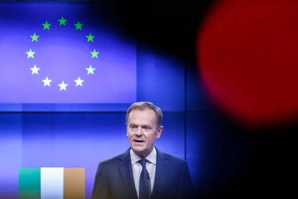 رئيس المجلس الاوروبي دونالد توسك في بروكسل في 6 فبراير 2019