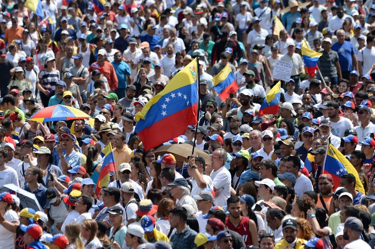 تظاهرة للمعارضة الفنزويلية