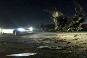 صورة تظهر الحافلة التي استهدفت وتقل عناصر من الحرس الثوري