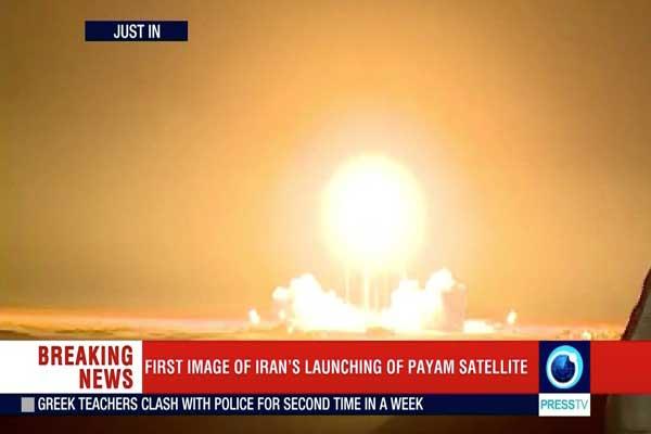 أثناء إطلاق إيران قمرًا صناعيًا في تجربة لم تنجح