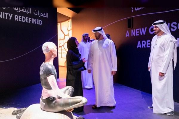 الشيخ محمد بن زايد خلال زيارته للقمة العالمية للحكومات