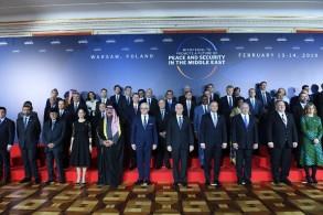 صورة للمشاركين في مؤتمر وارسو